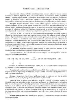 Laborator - Stabilitatea Termica a Policlorurii de Vinil