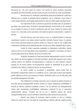 Proiect - Riscul Managementului Bancar