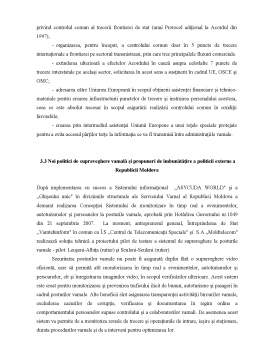 Curs - Cooperarea Vamala a Republicii Moldova cu Statele Vecine