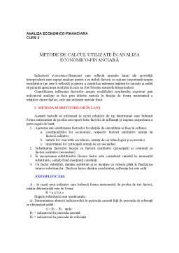 Curs - Fundamentele Teoretice ale Analizei Economico-Financiare în Sistemul Economic - Curs 2