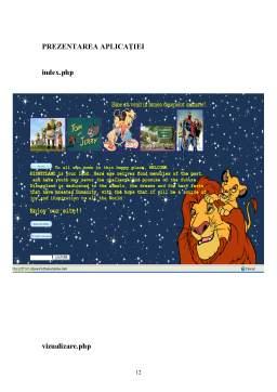 Proiect - Aplicatie Web HTML, PHP si MYSQL