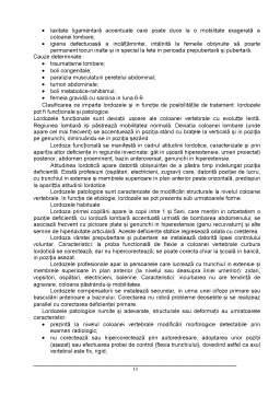 Licență - Deviatiile Coloanei Vertebrale in Plan Sagital