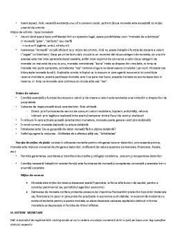 Curs - Obiectul și Caracteristicile Economiei Monetare