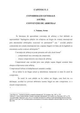 Proiect - Convenția de Arbitraj