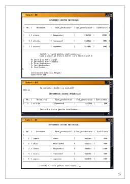 Licență - Realizarea unei Baze de Date cu Ajutorul Limbajului C