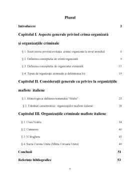 Proiect - Organizații Mafiote Italiene