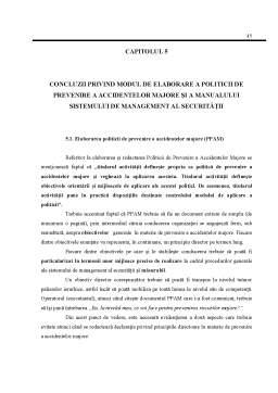 Disertație - Politici de Prevenire a Accidentelor Majore