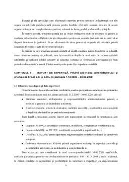 Proiect - Deontologia Expertului Contabil, cu Studiu de Caz pe un Raport de Expertiza Contabila