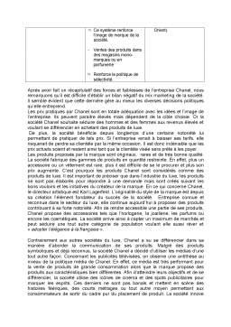 Proiect - La Strategie de la Maison Chanel