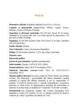 Curs - Italia din Punct de Vedere Economic
