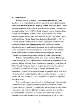 Referat - Amenajarea Turistică a Stațiunii Balneoclimaterice Covasna și Împrejurimi