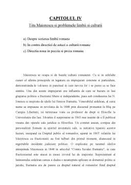 Proiect - Titu Maiorescu - Îndrumător al Literaturii Române