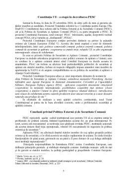 Seminar - Politica Externă și de Securitate Comună