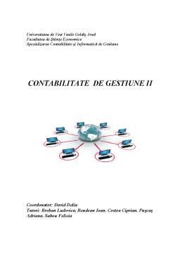 Curs - Contabilitate de Gestiune II