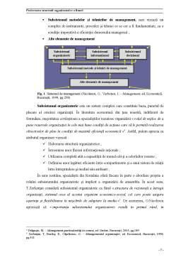 Proiect - Proiectarea Structurii Organizatorice a Firmei