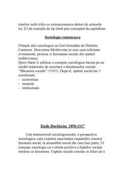 Curs - Durkheim și Paretto