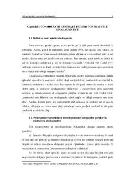 Licență - Efectele Specifice Contractelor Sinalagmatice