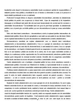 Referat - Centralizare și Descentralizare în Administrația Publică