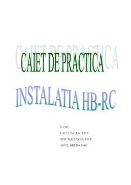 Proiect - Instalatia HB-RC