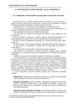 Proiect - Contabilitatea Stocurilor - Practica de Specialitate in Domeniul Contabilitatii