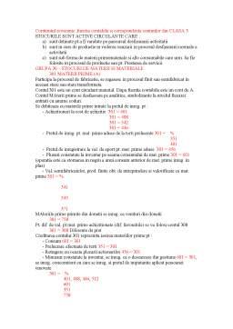 Curs - Continutul Economic, Functia Contabila si Corespondenta Conturilor din Clasa 3