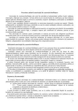 Curs - Procedura Emiterii Autorizatiei de Construire - Desfiintare