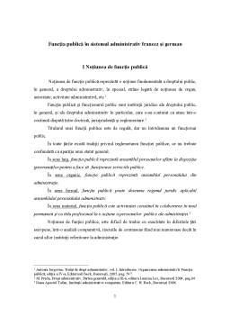 Referat - Funcția Publică în Sistemul Administrativ Francez și German