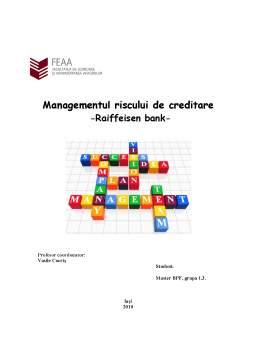 Referat - Managementul Riscului de Creditare - Raiffeisen Bank