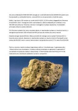 Proiect - Radioizotopi Naturali - Uraniul