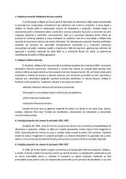 Curs - Evoluția Inflației în România