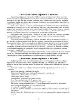 Referat - Organizarea si Functionarea Parlamentului Romaniei