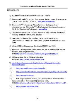 Licență - Dezvoltarea de Aplicatii Folosind Interfata Bluetooth