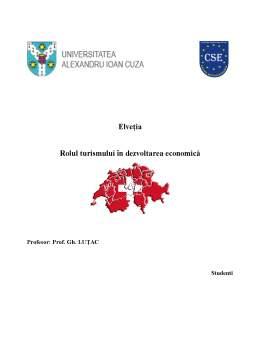 Proiect - Elvetia, Rolul Turismului in Dezvoltarea Economica