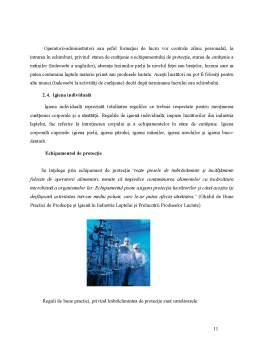 Proiect - Drepturile Consumatorului si Regulile de Igienizare in Domeniul Procesarii Laptelui