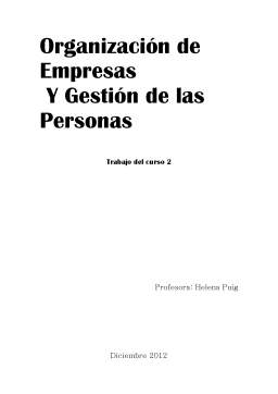 Proiect - Legislatie Turistica si Firmele Turistice - Studiu de Caz Barcelona
