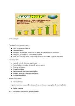 Proiect - Franciza Subway