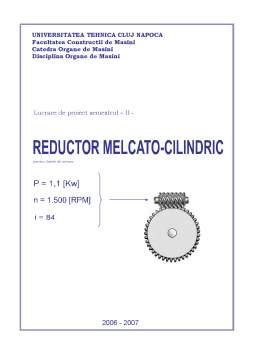 Proiect - Reductor Melcato-Cilindric in Doua Trepte