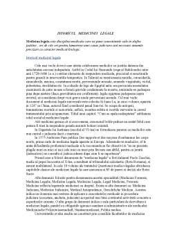 Curs - Istoricul Medicinei Legale