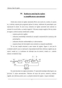 Referat - Sisteme și Legi de Reglare