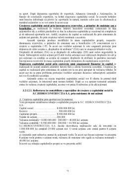 Proiect - Contabilitatea Capitalurilor Proprii la S.C. Hidroconstructia S.A. Pitesti