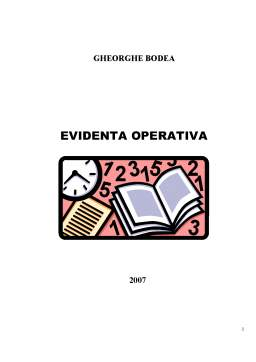 Curs - Evidenta Operativa