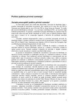 Curs - Politici Publice privind Comerțul
