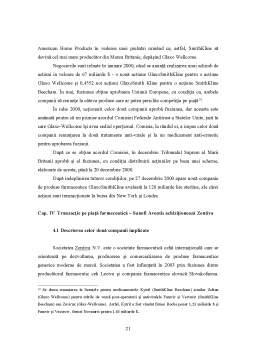 Proiect - Achiziții și Fuziuni pe Piața Produselor Farmaceutice
