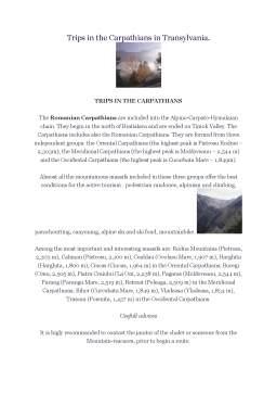 Referat - Trips în the Carpathians în Transylvania