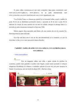 Proiect - Analiza Comparativa a Site-urilor de Comert Electronic - Cosmetice