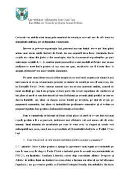 Seminar - Partidul Forta Civica - Organizatia Judeteana Iasi
