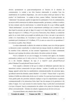Referat - La Politesse Linguistique Et Son Rapport au Sexe