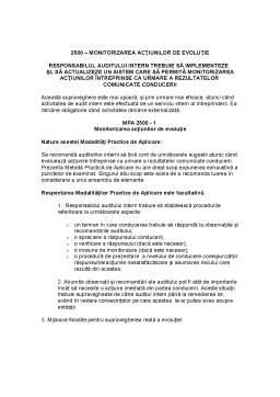 Curs - Norme Profesionale ale Auditului Intern