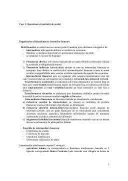 Curs - Operatiuni si Institutii de Credit