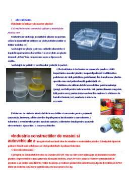 Curs - Materiale Plastice de Înaltă Tehnologie